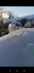 Seifenblasen gefrieren lassen
